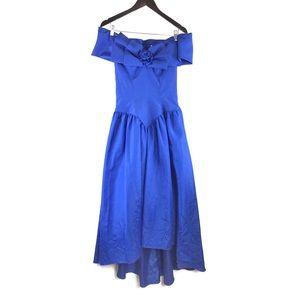 Vintage Laura Salkin 80s Prom Formal Dress